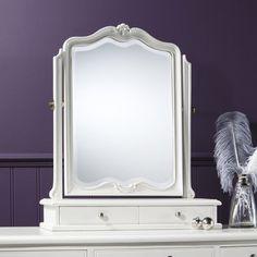 Luxe Vanilla Table Mirror