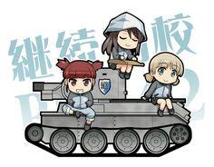Girls und Panzer,Anime,Аниме,aki (girls und panzer),mika (girls und panzer),mikko (girls und panzer),haniwa (leaf garden)