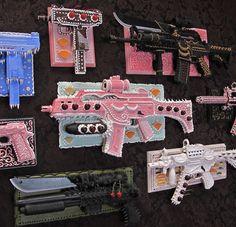 """Preview: Scott Hove's """"Guns & Ecstasy"""" at Spoke Art   Hi-Fructose Magazine"""