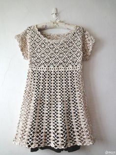 Free Crochet Dress Pattern or long shirt