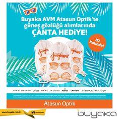 Buyaka Atasun Optik'te güneş gözlüğü alımlarında çanta hediye! #BuyakaAvm #AtasunOptik #Hediye #Kampanya #BuyakaAvm