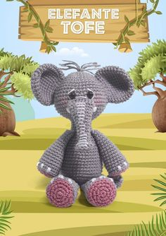 Bichinhos Amigurumi Receita PDF - Como Fazer Amigurumi Toys, Amigurumi Patterns, Amigurumi For Beginners, Amigurumi Tutorial, Safari, Free Pattern, Dinosaur Stuffed Animal, Arts And Crafts, Geek Stuff