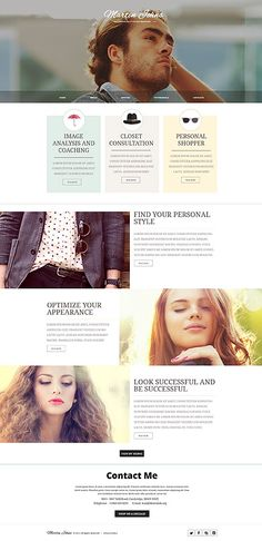 Martin Johns Fashion Stylist #website #template. #themes #business #responsive