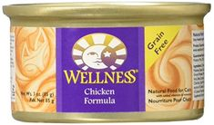Wellness Canned Cat Formula Chicken  3 oz -- BEST VALUE BUY on Amazon #CatNutrition Cat Nutrition, Grain Free, Pet Supplies, Wellness, Chicken, Amazon, Cats, Food, Gatos