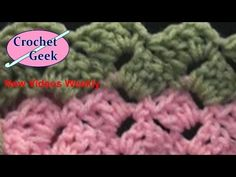 B EGINNERS GUIDE: How to Crochet knit ENGLISH Slanted Shell Blanket Afghan Crazy Stitch - YouTube