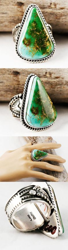 Native American pre-1935 165137: Albert Jake Wild Earth Gem Turquoise Ring Sterling Silver Native American 9 -> BUY IT NOW ONLY: $479 on eBay!