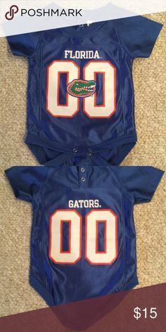 d1c4cddf3 EUC Florida Gator Jersey Onesie In excellent condition barely worn by my  son! FansEdge One Pieces Bodysuits