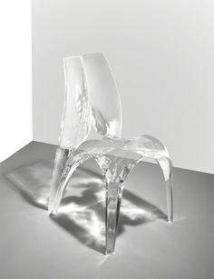 Zaha Hadid - Liquid glacial chair, 2015