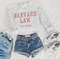 Ivy League shirts are perfect for putting together cute outfits for class for sc., Summer Outfits, Ivy League shirts are perfect for putting together cute outfits for class for school! Teen Fashion Outfits, Mode Outfits, Womens Fashion, Shorts Outfits For Teens, Trendy Outfits For Teens, Teenage Outfits, Cute Outfits For Summer, Cute Clothes For Teens, Fashion Fashion