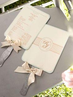 Wedding Programs Made into Fans wedding-ideas