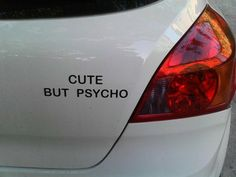bumper sticker.