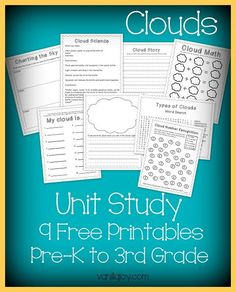 FREE Printable Clouds Unit Study - 9 Pages of Activities | VanillaJoy.com