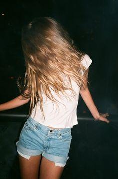 White T. Jean Shorts. 2 Months Away.