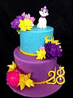 Aristocat - Cake by Fondant, Piece Of Cakes, Cake Ideas, Cake Recipes, Cake Decorating, Special Occasion, Birthday Cake, Flower Cakes, Decorated Cakes