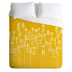 Budi Kwan Overgrow Yellow Duvet Cover   DENY Designs Home Accessories