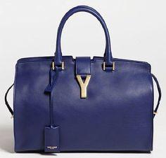 YSL Leather blu
