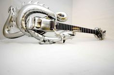 Asia's dragon guitar. I can't imagine playing this would be very comfortable.