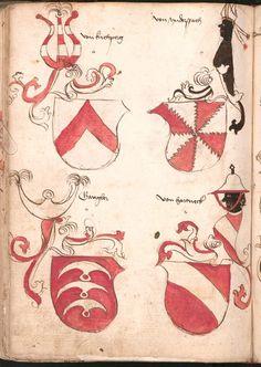 Wernigeroder (Schaffhausensches) Wappenbuch Süddeutschland, 4. Viertel 15. Jh. Cod.icon. 308 n  Folio 194v