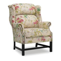 Shop for Lakeside Jefferson Wing Chair, and other Living Room Chairs at Walter E. Smithe in 11 Chicagoland locations in Illinois and Merrillville, Indiana. Bustle back Chippendale wing chair with stretcher base, Comes standard with nailhead trim. Chicago Furniture, Riverside Furniture, Upholstered Dining Chairs, Dining Room Chairs, Patterned Furniture, Feminine Decor, Leather Dining Chairs, Transitional House, Accent Chairs For Living Room