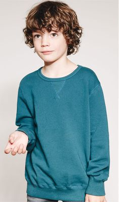 Image 1 of Sweatshirt with round neck from Zara Boy Models, Young Models, Kids Fans, Zara Official Website, Boys Wear, Kind Mode, Teen Fashion, Cute Kids, Boy Outfits