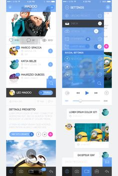 iPhone App UI Kit Concept #conceptdesign #uidesign #mobiledesign
