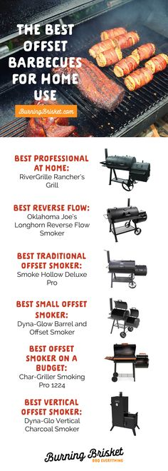 Delicious, fall-apart, low-and-slow meats are easy to create with one of these great offset smokers. Click on the image for the full review | Burning Brisket | Barbecue Everything | best offset smokers, top offset smokers, best smokers, top smokers, how to smoke meat, best barrel smoker, top barrel smoker
