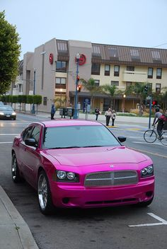 Dodge charger in pink! OMG