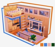 """""""the sims - simvope Sims Free Play, Play Sims, Sims 4 Loft, Sims Building, Building Games, Sims 4 House Plans, Sims 4 House Design, Sims 4 Bedroom, Casa Loft"""