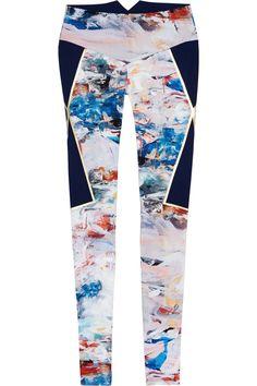 Lucas Hugh|Nordica printed stretch leggings|NET-A-PORTER.COM