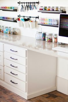 Cheap Craft Room Storage Cabinets Shelves Ideas 17