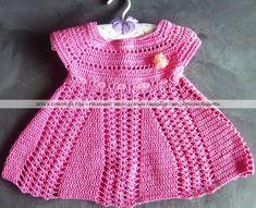 Vestido infantil em crochê | Arte & Crochê da Rita | Elo7