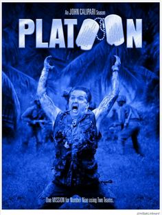 Platoon, directed by Oliver Stone, starring Willem Dafoe, Charlie Sheen and Tom Berenger, 1986 Drama Movies, Hd Movies, Movies To Watch, Movies Online, Movie Tv, Movies Free, Drama Film, Movie Cast, Movies 2019