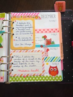 I love how this journalist incorporated quotes and such with Journalling cards. Coloursnme: December 2013