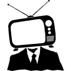 TV Kopf - Ein Retro Fernseher mit Antennen als Kopf auf ein Hals.