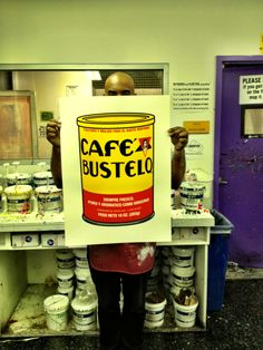 """""""Cafe Bustelo"""" 22' x 28' 4 color print on Paper."""