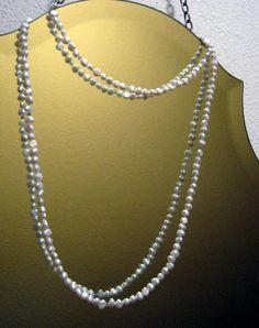 Wedding Pearl & Swarovski Crystal Double Strand Necklace by SacredCoyoteDesigns, $30.00