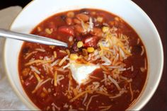 Tasty Turkey Taco Soup is a must-try for the slow cooker. This simple taco soup recipe is a slow cooker taco soup with ground turkey that is lean, filling, and delicious -- what more could you ask for in a slow cooker taco soup recipe?