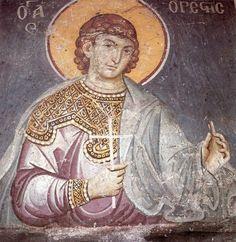 manuel-panselinos-from-the-holy-church-of-the-protaton (189) Fresco, Best Icons, Byzantine Art, Sacred Art, Little Sisters, Figure Painting, Art History, Holi, Fantasy Art
