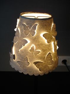 DIY Laser Cut Lampshade with a craft knife (or laser machine).