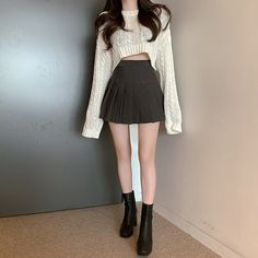 Swag Outfits For Girls, Edgy Outfits, Korean Outfits, Retro Outfits, Cute Casual Outfits, Girl Outfits, Korean Girl Fashion, Cute Fashion, Looks Kawaii
