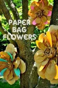 Best Paper Bag Crafts - Paper Bag Flowers