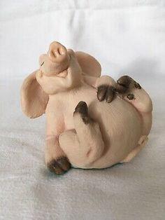 Piggin Hilarious By David Corbridge 1995 Hand Made Pig Collectible Hilarious, David, Animal, Handmade, Ebay, Hand Made, Animaux, Craft, Animal Memes