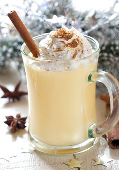 Coquito is the Puerto Rican version of eggnog but made with coconut cream and milk, and rum. Try this Puerto Rican Coquito recipe that's easy to make. Holiday Drinks, Holiday Recipes, Christmas Recipes, Holiday Treats, Holiday Parties, Puerto Rican Coquito Recipe, Yummy Drinks, Yummy Food, Homemade Eggnog