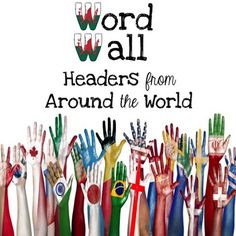 Word Wall HeadersThese beautiful word wall letters are perfect for your upper elementary classroom! They were created using the flags of different countries. These are perfect for a Social Studies classroom as it exposes students to a variety of flags.
