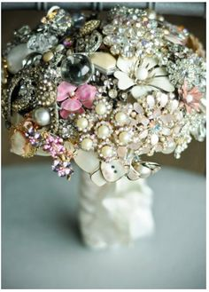 Vintage jewelry bouquet.