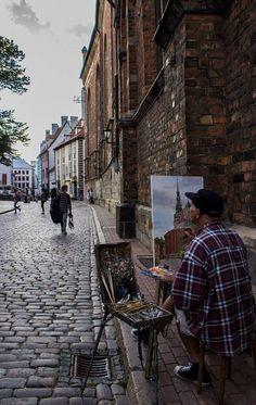 Local painter. Rīga, Latvia #Baltic #Northern #Europe
