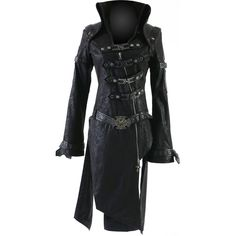 Punk Rave goth coat straps with buckle