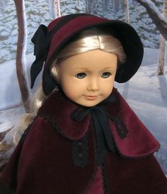 Velveteen Bonnet and cloak with Collar and Capelet | Flickr - Photo Sharing!