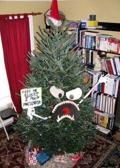 lustiger Weihnachtsbaum böse kreativ