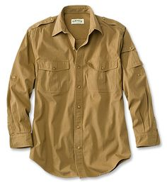 Just found this Safari Shirts for Men - Bush Shirt -- Orvis on Orvis.com! i think i could pull it off in dark olive.